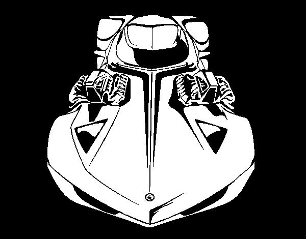 Desenho De Hot Wheels Lamborghini Gallardo Para Colorir
