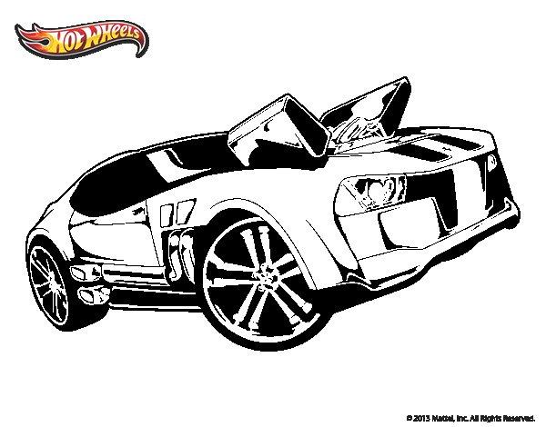 Desenho de Hot Wheels Twinduction para Colorir