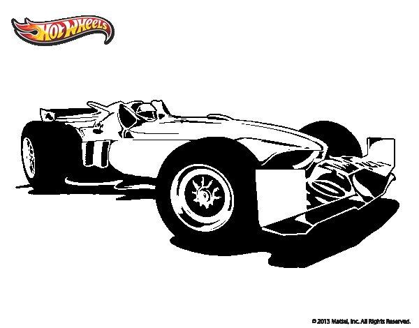 Desenho de Hot Wheels Tyrrell P34 para Colorir