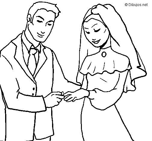 Matrimonio Catolico Para Dibujar : Desenho de interc mbio alianças para colorir