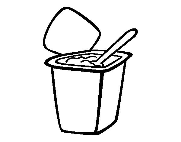 desenho de iogurte natural para colorir