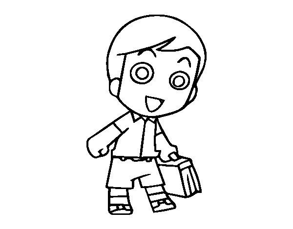 Desenho de Ir para a escola para Colorir