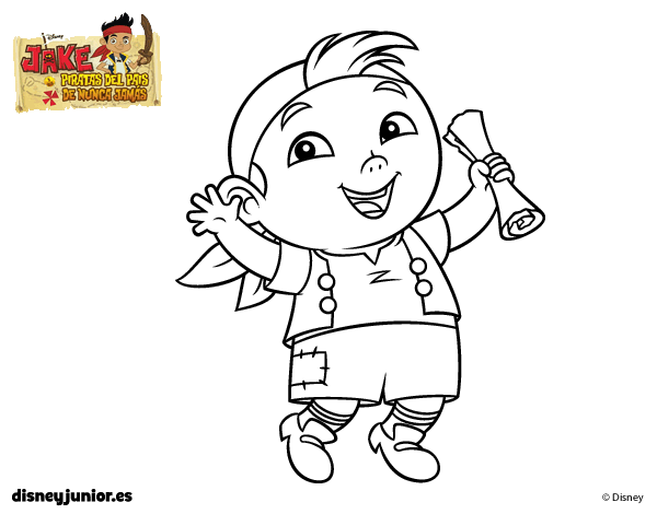 Jake And The Neverland Pirates Coloring Pages Halloween