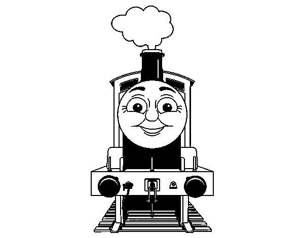 Desenho de James a locomotiva para Colorir