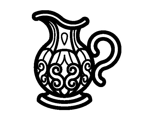 desenho de jarra de agua para colorir