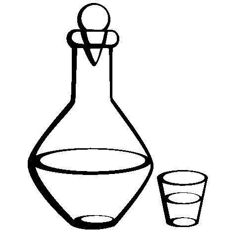 Desenho de Jarra e copo para Colorir