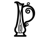 Desenho de Jarro grego para colorear