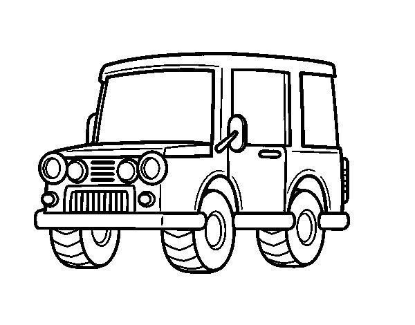 Desenho de Jeep fora de estrada para Colorir