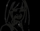 Dibujo de Menina chorando