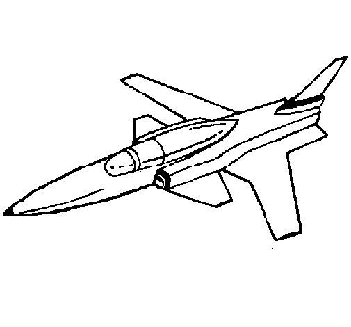 Desenho de Jet para Colorir