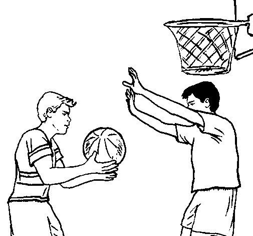 Desenho de Jogador a defender para Colorir