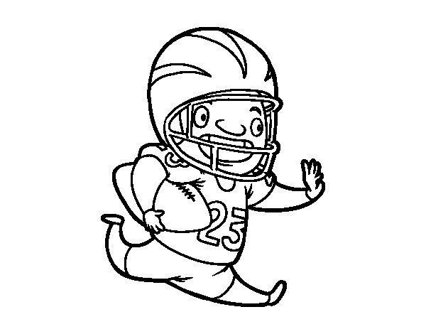 Desenho de Jogador de futebol americano para Colorir