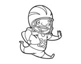 Desenho de Jogador de futebol americano para colorear