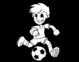 Dibujo de Jogador de futebol com bola