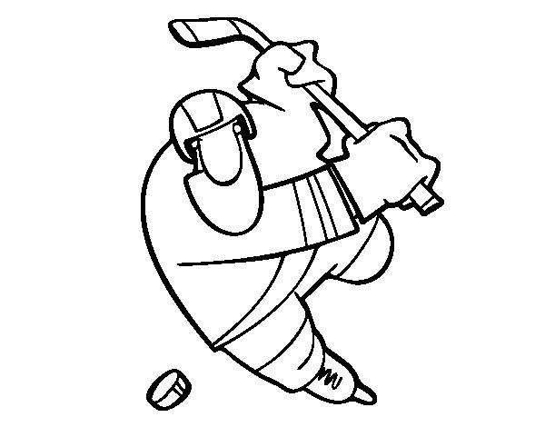 Desenho de Jogador de hóquei para Colorir