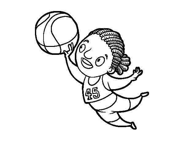 Desenho de Jogador de voleibol para Colorir