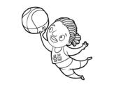 Desenho de Jogador de voleibol para colorear