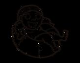 Desenho de Jogar com o flutuador para colorear
