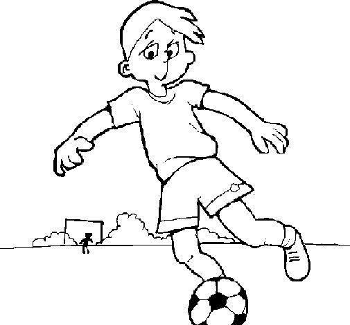 Desenho de Jogar futebol para Colorir