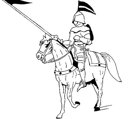 Desenho de Jóquei a cavalo para Colorir
