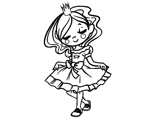 Desenho de Jovem princesa para Colorir