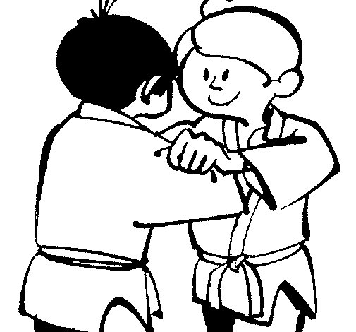 Desenho de Judo amistoso para Colorir