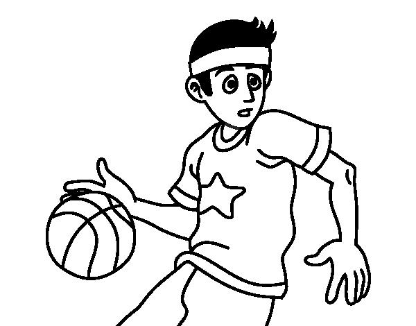 Desenho de Junior jogador de basquete para Colorir