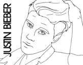 Desenho de Justin Bieber grande plano para colorear
