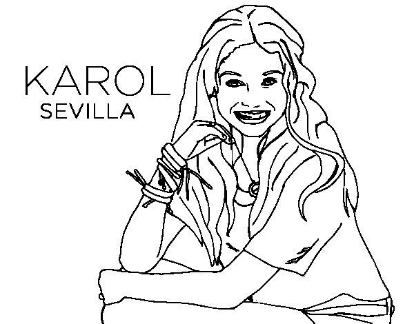 Desenho de Karol Sevilla de Soy Luna para Colorir