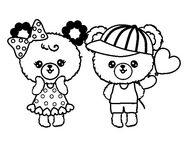 Desenhos Kawaii Para Colorir: Desenho De Kawaii Ursos Para Colorir