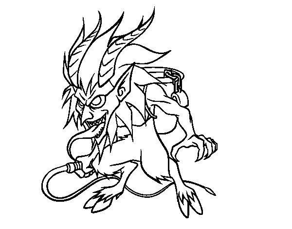 Desenho de Krampus para Colorir