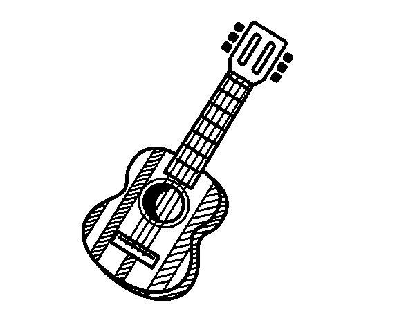 Desenho de La guitarra espanhola para Colorir