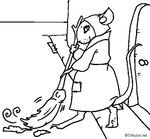 Desenho de La ratita presumida 1 para Colorir