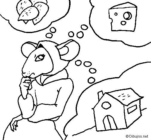 Desenho de La ratita presumida 4 para Colorir