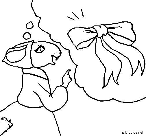 Desenho de La ratita presumida 5 para Colorir