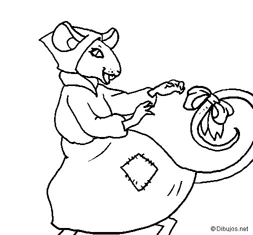 Desenho de La ratita presumida 7 para Colorir
