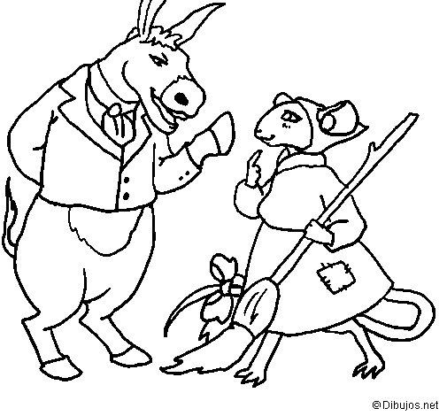 Desenho de La ratita presumida 9 para Colorir
