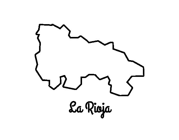 Desenho de La Rioja para Colorir