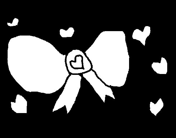 Desenho de Laço para Colorir
