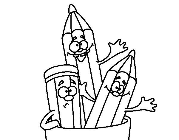 Desenho de Lápis de cores para Colorir
