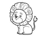 Desenho de Leão jovem para colorear