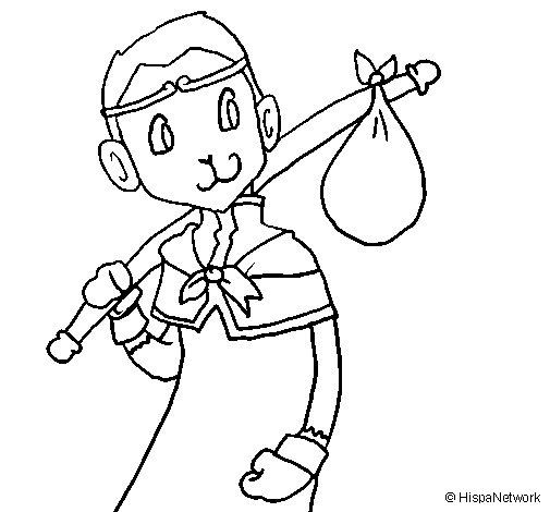 Desenho de Lenda goku para Colorir