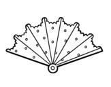 Desenho de Leque com topos para colorear