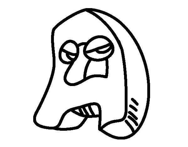Desenho de Letra A para Colorir