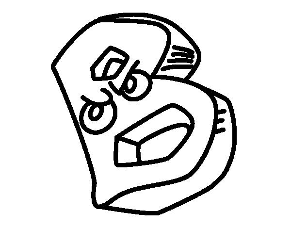 Desenho de Letra B para Colorir