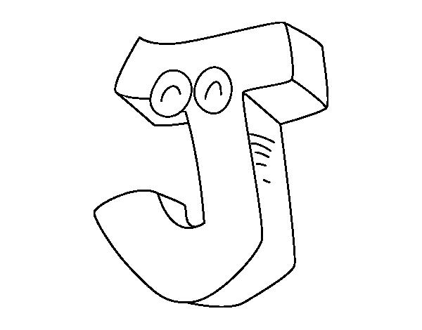 Desenho de Letra J para Colorir - Colorir.com