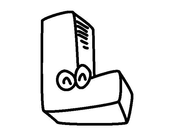 Desenho de Letra L para Colorir