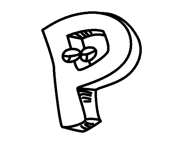 Desenho de Letra P para Colorir