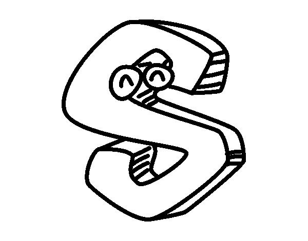 Desenho De Letra S Para Colorir