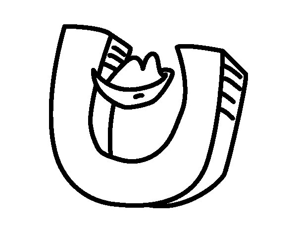 Desenho de Letra U para Colorir